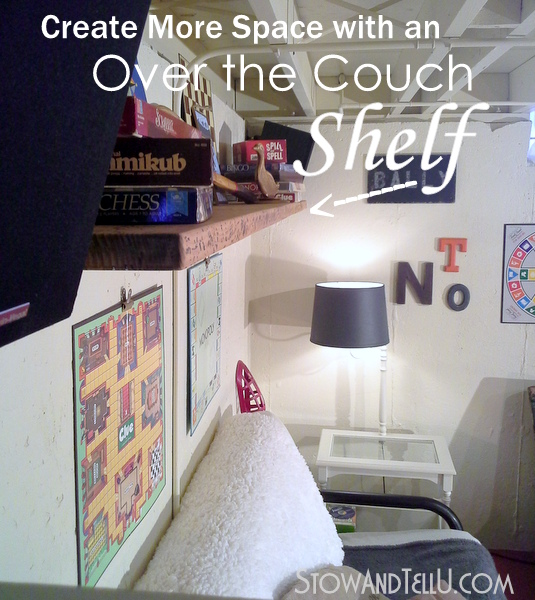 create-more-space-over-the-couch-shelf-http://stowandtellu.com