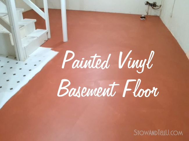 No slip painted vinyl floor for Painted vinyl floor ideas