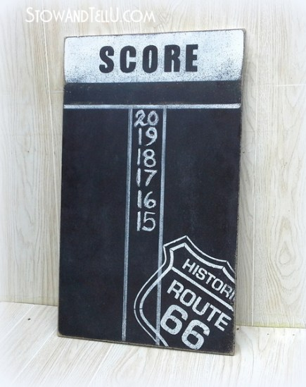 chalkboard-paint-route-66-diy-dartboard-scoreboard-game-room-art-http://stowandtellu.com