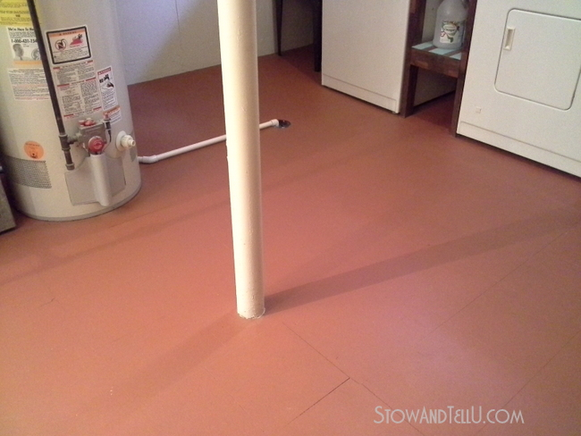 Vinyl Floor Painted Basement Http://www.stowandtellu.
