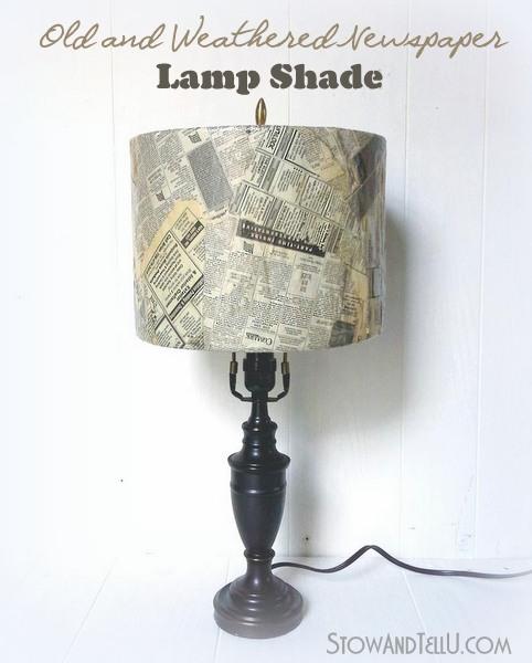 decoupage-old-newspaper-lamp-shade-http://stowandtellu.com