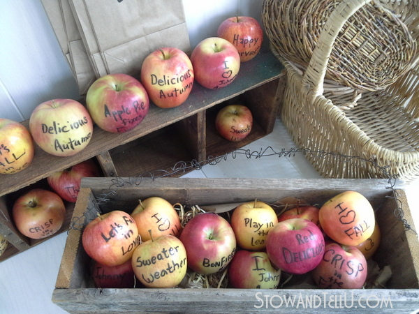 fall-wedding-edible-writing-apples-http://stowandtellu.com