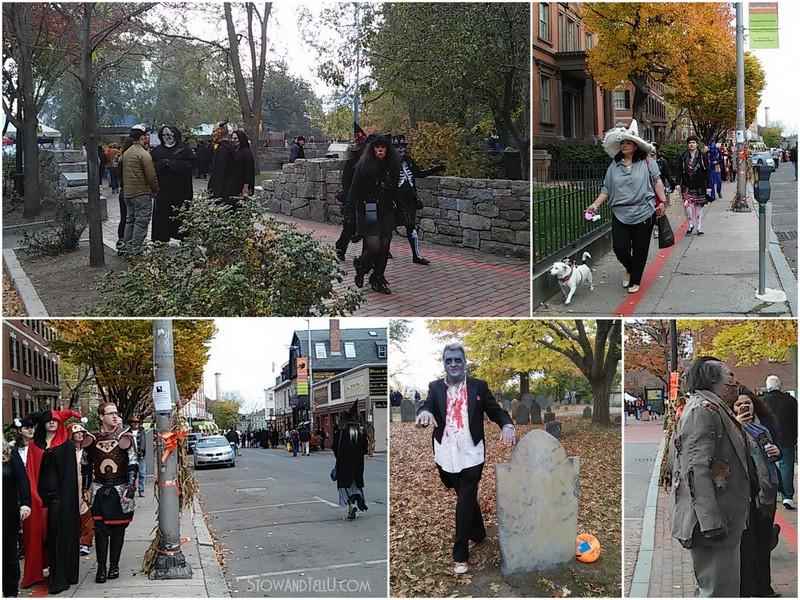 Postcards from Salem Massachusetts on Halloween