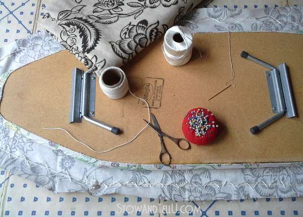 What you need and how to hand sew an ironing board cover