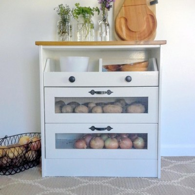 Potato and Vegetable Bin IKEA Rast Hack