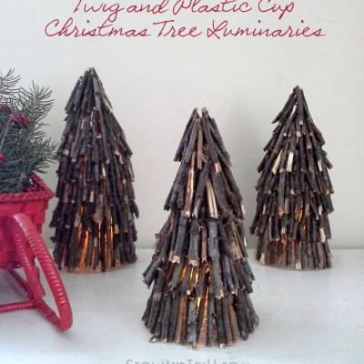 Twig Christmas Tree Luminaries