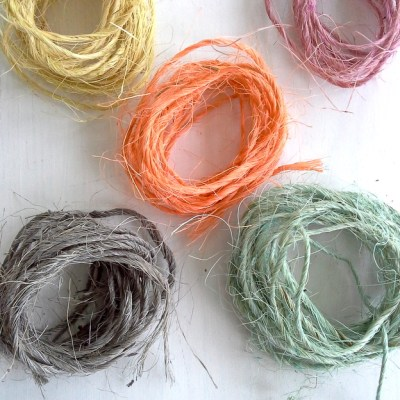 How to Dye Sisal Twine with Paint