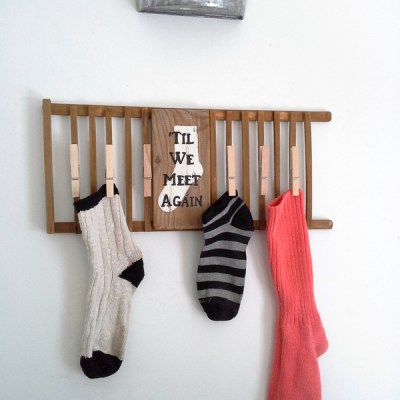 Til We Meet Again Missing Sock Laundry Sign