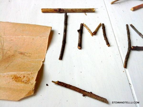 nature-craft-kids-name-art - StowAndTellU.com