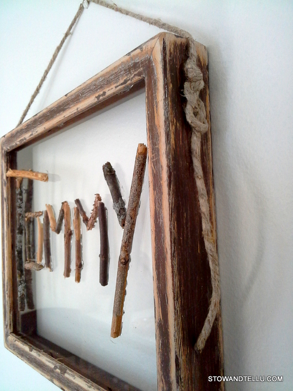 nature-crafts-framed-twig-name-plate - StowAndTellU.com