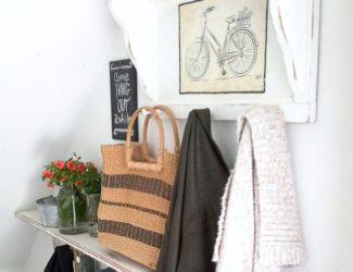white-painted-coat-rack-shlef-bicycle-print-StowAndTellU.com