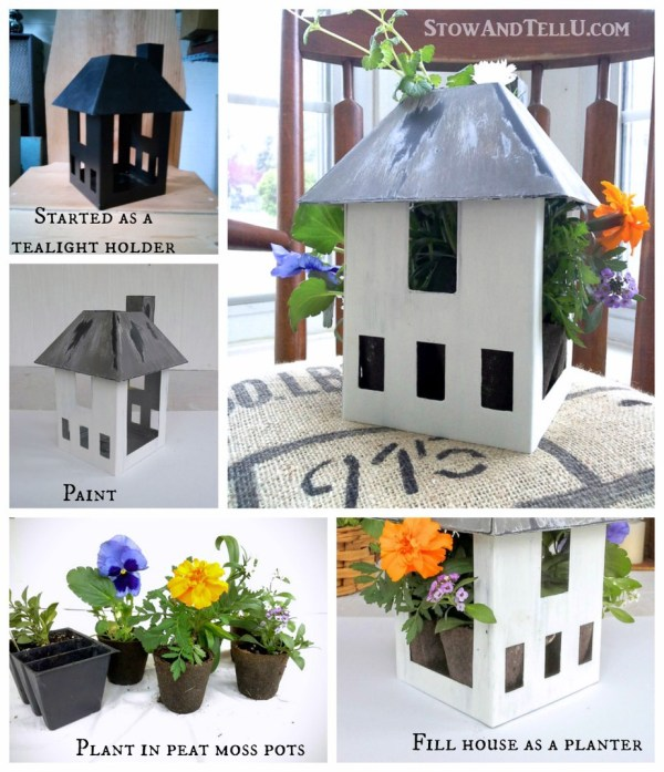 how-make-birdhouse-planter - StowandTellU.com