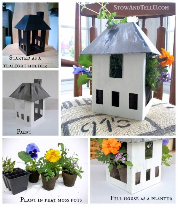 how-make-birdhouse-planter - StowandTellU.com