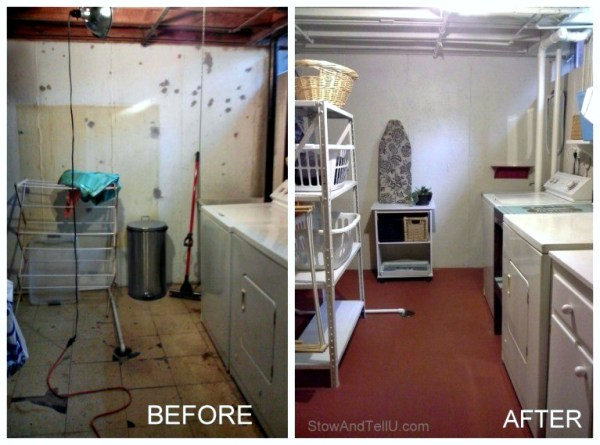 laundry-area-open-floor-plan-basement-makeover-StowAndTellU.com