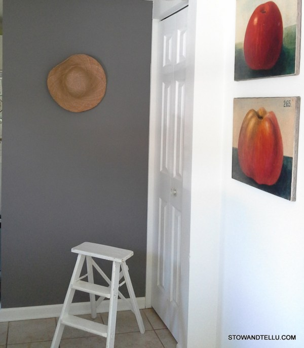 gray-painted-wall-apples-stray-hat