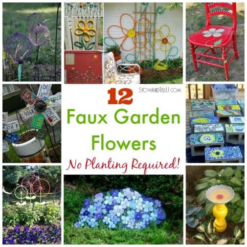 12 Faux Garden Flower Ideas | stowandtellu