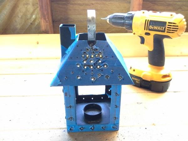 upcyled-miniature-house-punch-tin-lantern-drill-metal-mock-punch-tin - StowandTellU.com