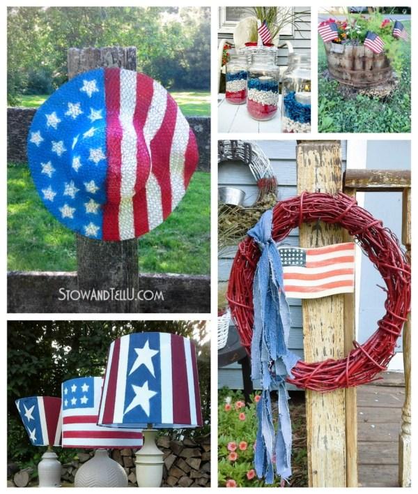 patriotic outdoor decorating ideas - StowandTellU.com