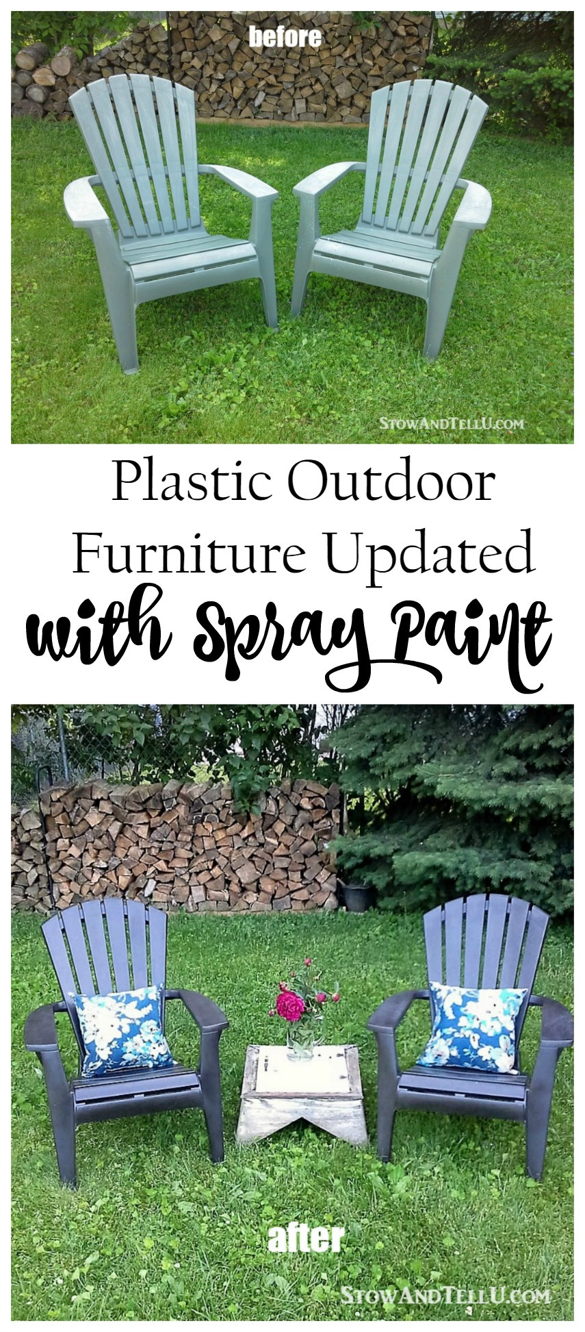 Refreshing Outdoor Plastic Furniture With Spray Paint   And A Tip For An  Easy Spray Paint Part 76
