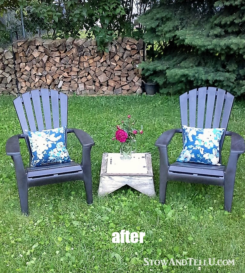 Yardworkation #1 - Spray Paint and Plastic Lawn Chairs