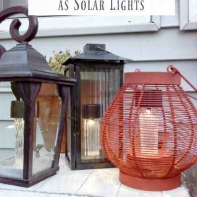 DIY Upcycled Lantern Solar Lights