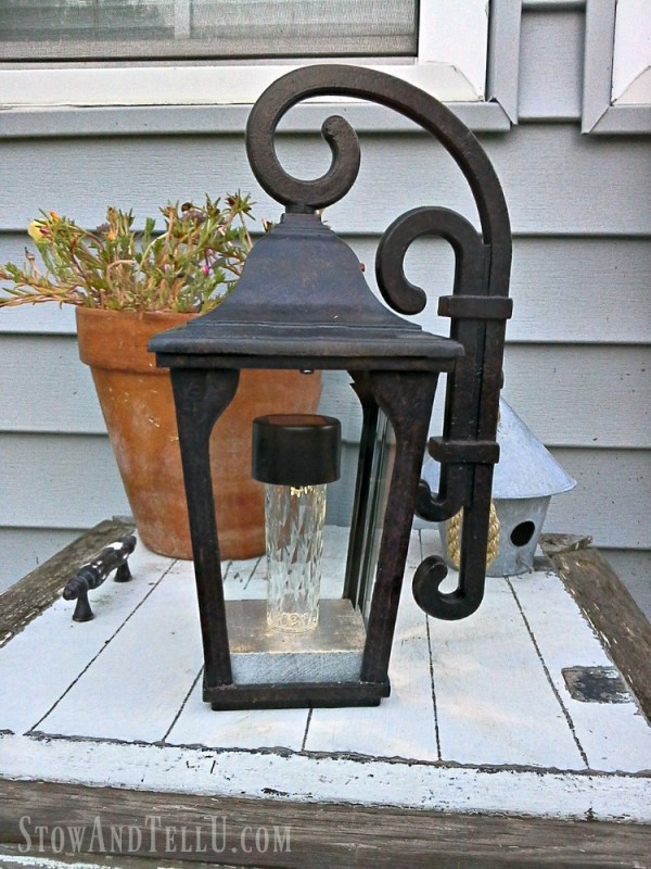 repurposed lantern solar light - StowandTellU.com