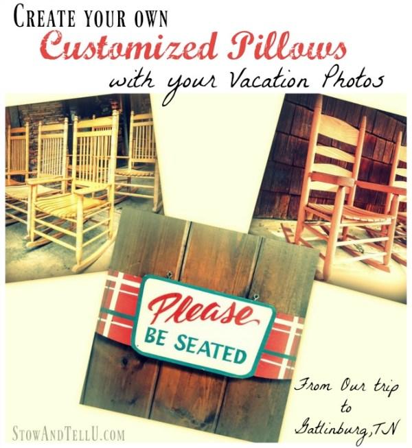 Design your own custom throw pillows using vacation photos - #Groupon Goods, #spons, #ad - StowandTellU.com