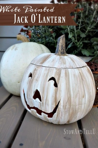 White Painted Jack O Lantern and Back Porch Update {YardWorkation 4}