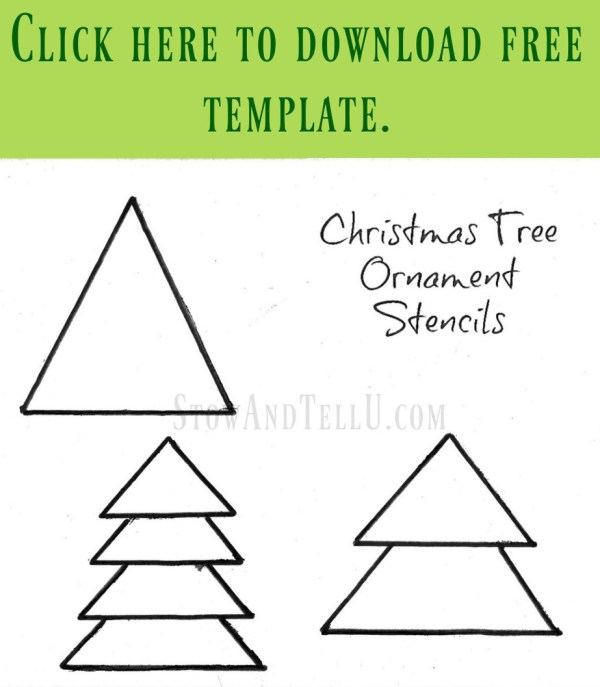 DIY Christmas tree ornament stencil free printable | StowandTellU