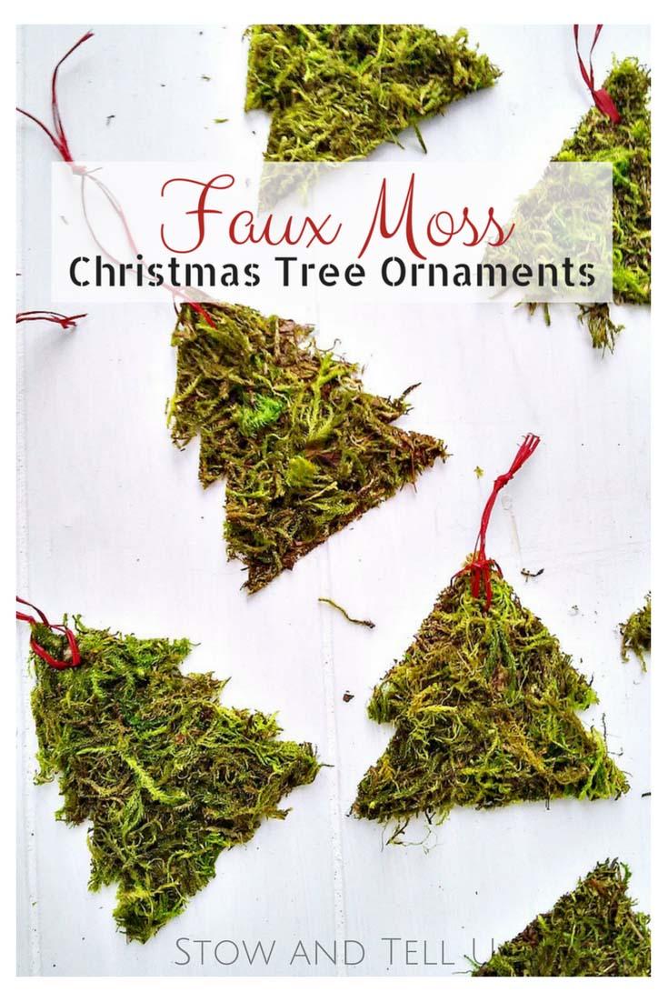 DIY Moss Christmas Tree Ornaments | Stow&TellU