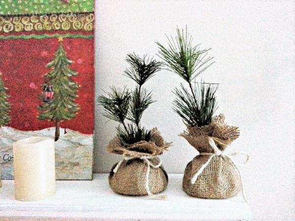 Holiday party favor idea: make faux pine saplings or seedlings - StowAndTellU.com