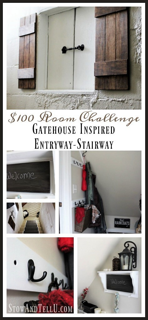 Gatehouse-inspired-entry-stairway - $100 Room Challenge | stowandtellu