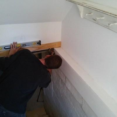 Entryway Stairway Makeover $100 Room Challenge {Week 1}