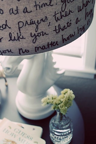 10 ways to add song lyric wording to home decor | StowandTellU.com