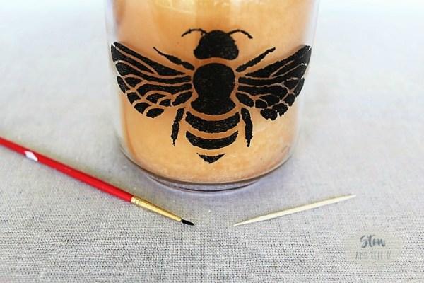 Stenciling tips on jars   Stowandtellu.com