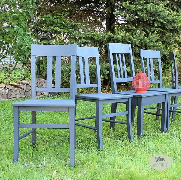 chalky-finish-spray-painted-dining-chair-set | stowandtellu.com