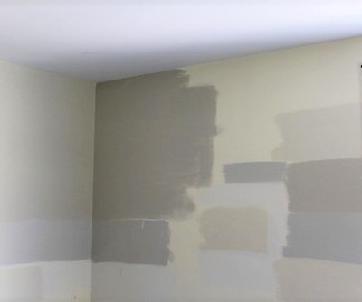 Sampling Paint Colors on the Wall : Living Room Update