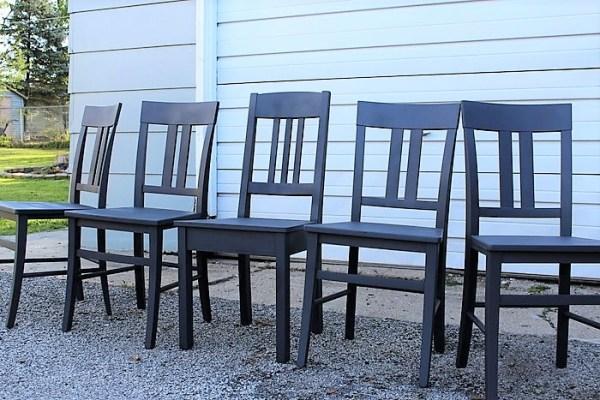 krylon-anvil-gray-chalky-finish-painted-chairs | stowandtellu.com