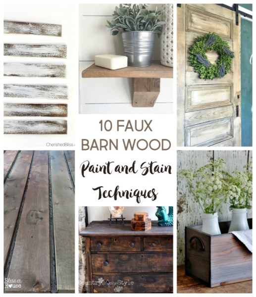 10 diy faux barn wood weathering paint and stain finishes | Stowandtellu.com