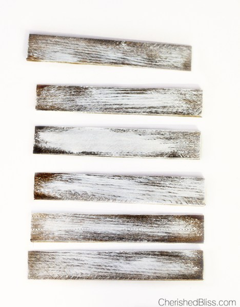 Faux barnwood white wash paint technique | Cherished Bliss | 10 Ways to make wood look old