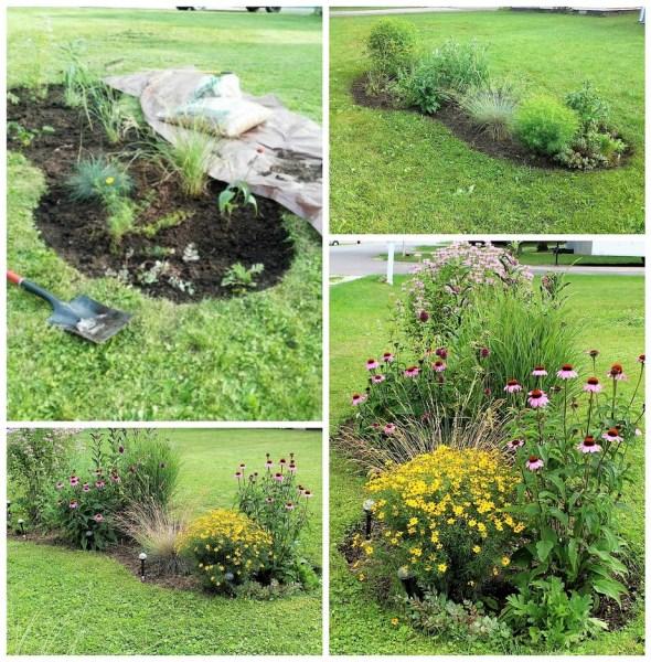 5 Tips for starting a diy flower bed | how to dig in ground flower garden | Stowandtellu.com
