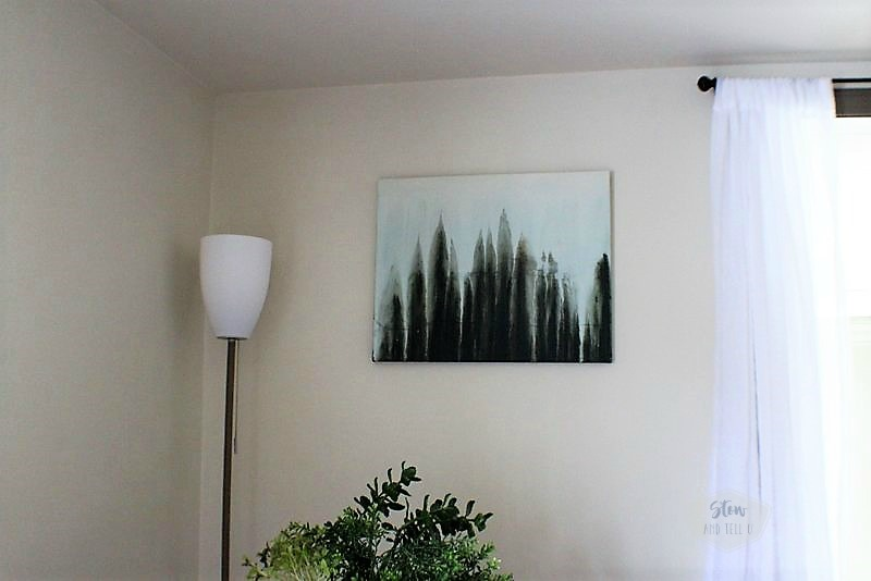 How to make a drip art forest abstract water color painting | stowandtellu.com