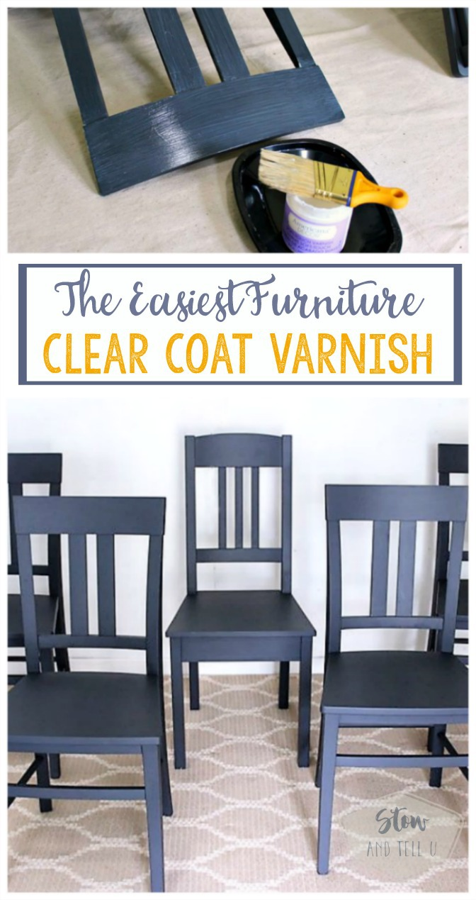 The easiest furniture clear coat varnish | top coat sealer for painted furniture, crafts home decor | Stownadtellu.com