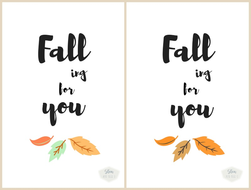 Free Fall printables with leaves | Falling for You | StowandTellU.com