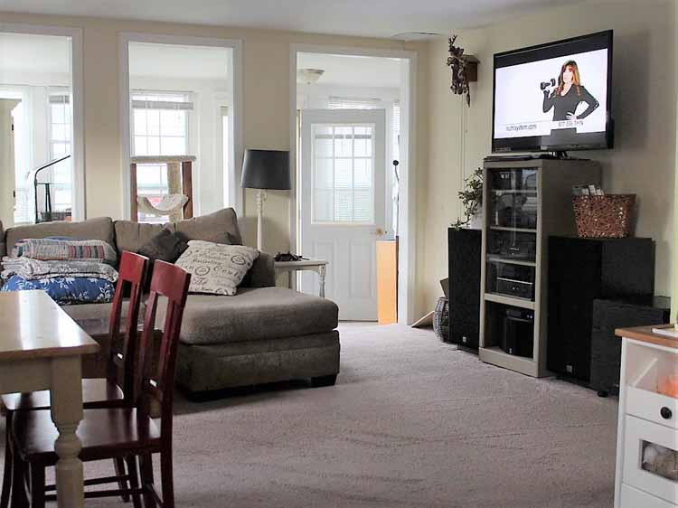 5 living room space savers - tv area before
