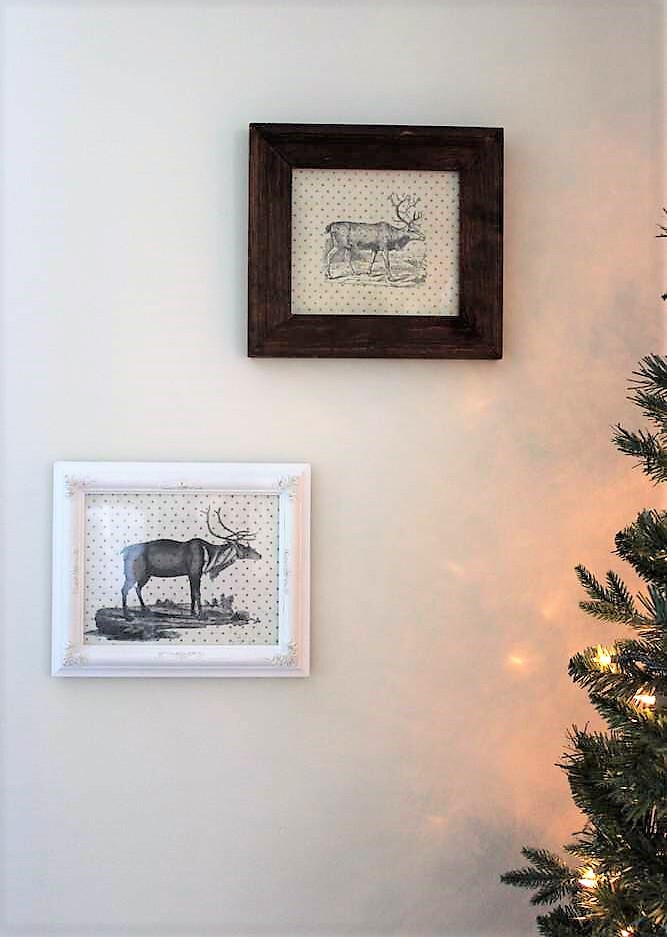 DIY rustic reindeer Christmas wall art   stowandtellu.com