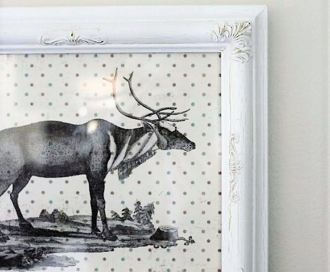Scrapbook paper Christmas reindeer wall art | stowandtellu