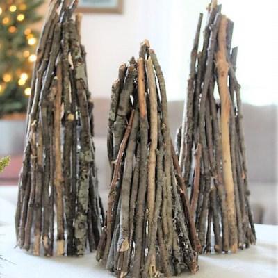How to make Christmas tree decor twig luminaries | stowandtellu.com