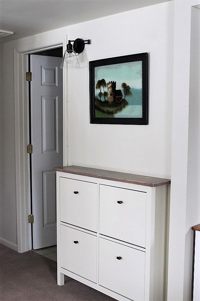 Ikea Hack Hallway Shoe Cabinet | Stowandtellu.com