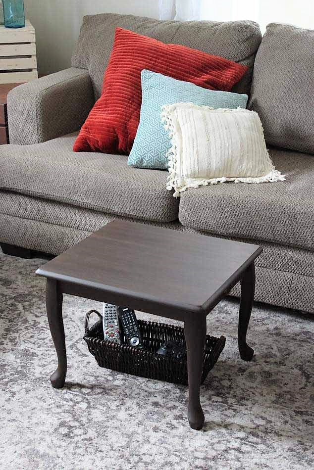 End Table Upcycled As A Small Space Coffee Table Stow Amp Tellu
